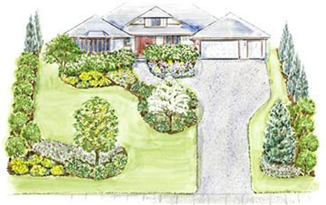 three welcoming front yard landscape designs surrounds a large welcoming front yard landscape plan