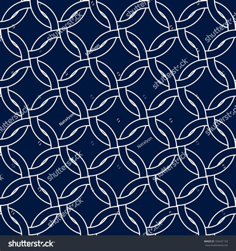 pattern navy blue abstract geometric woven circles seamless pattern stock