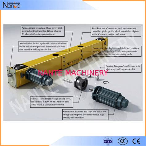 motorized crane 1 100t electric motorized crane end carriage beam for