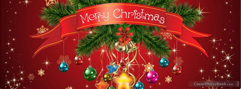 merry christmas ornaments facebook cover holidays