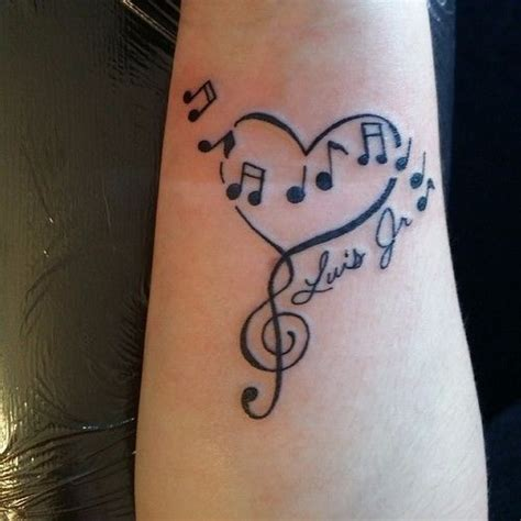 heart with music notes tattoo designs only best 25 ideas about on