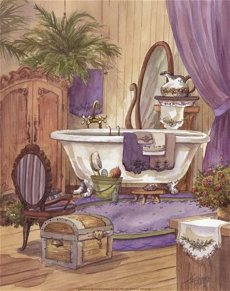 bathtub paintings victorian bathroom i fine art print by jerianne van dijk
