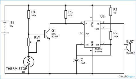 alarm system circuit diagram alarm using thermistor technology hacking