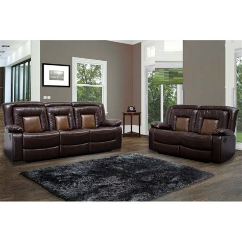 Leather Recliner Set by 2pc Sofa Set Living Room Modern Sofa Loveseat W