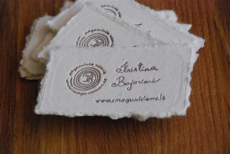 Handmade Paper Business Cards - business card by magic handmade paper