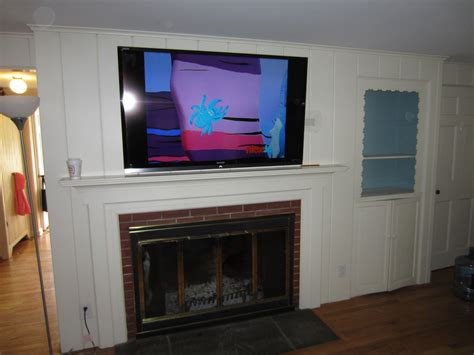home   fireplace   tv mounted