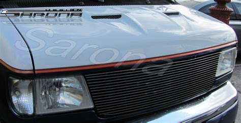 custom ford econoline van hood  styles    manufacturer sarona part fd
