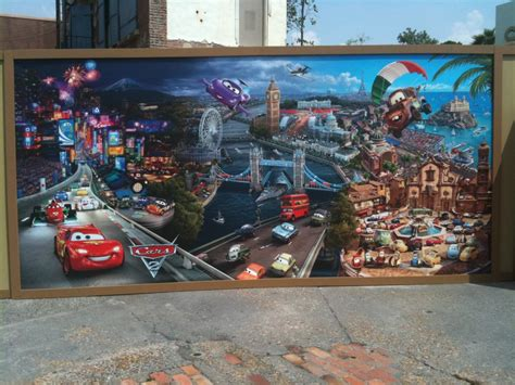 disney cars wall mural disney cars 2 wallpaper mural