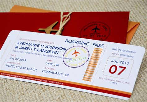 Plane Ticket Wedding Invitation Template boarding pass wedding invitation template wedding and