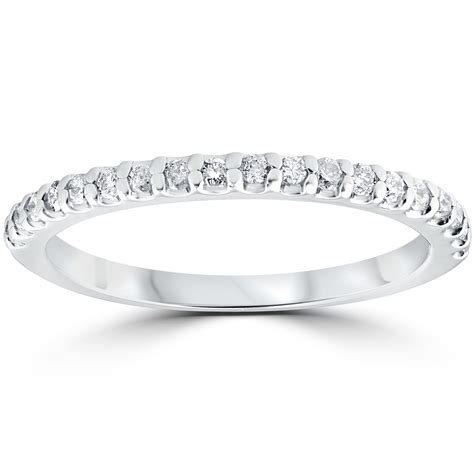 1 5 cttw stackable womens wedding ring 10k white