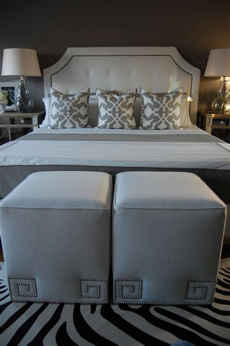 ottoman in bedroom key ottoman contemporary bedroom benjamin galveston gray