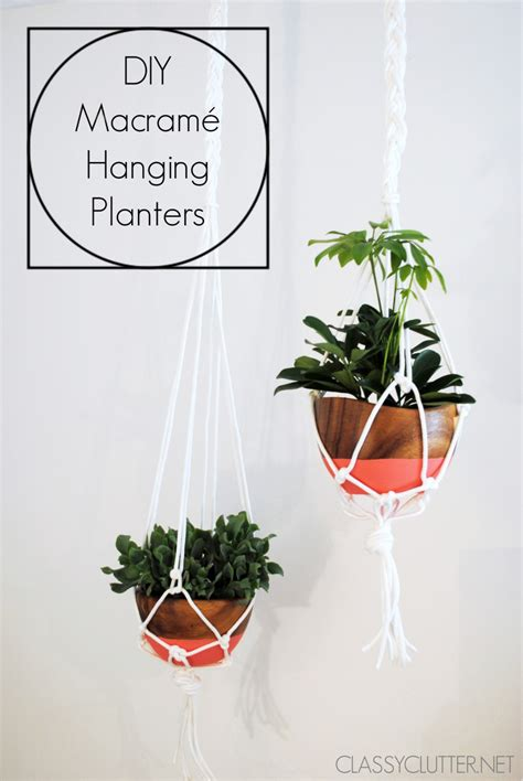 How To Make A Macrame Hanging Planter - diy macram 233 hanging planter