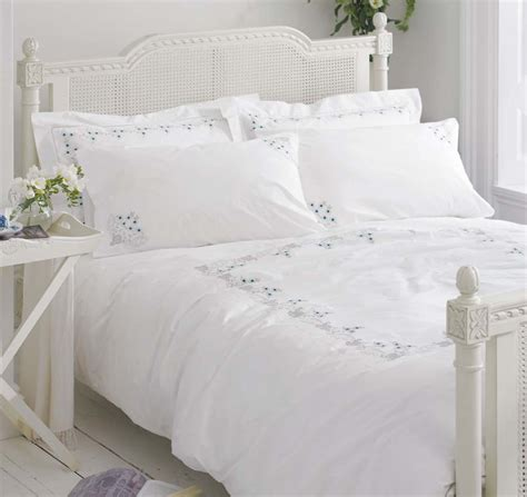 white bed coverlet white cotton bedding bed linen vintage embroidered