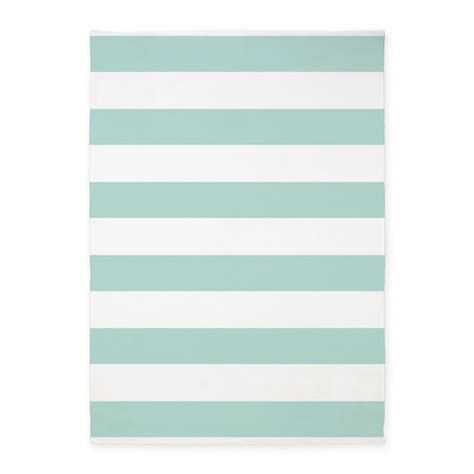 light teal area rug light teal bold stripes 5 x7 area rug by hhtrendyhome