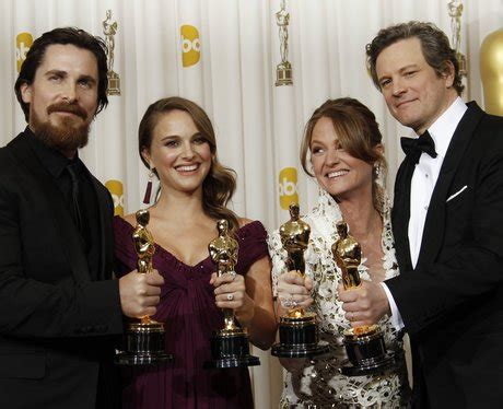 The Oscars Ceremony Begins by Christian Bale Natalie Portman Leo And Colin