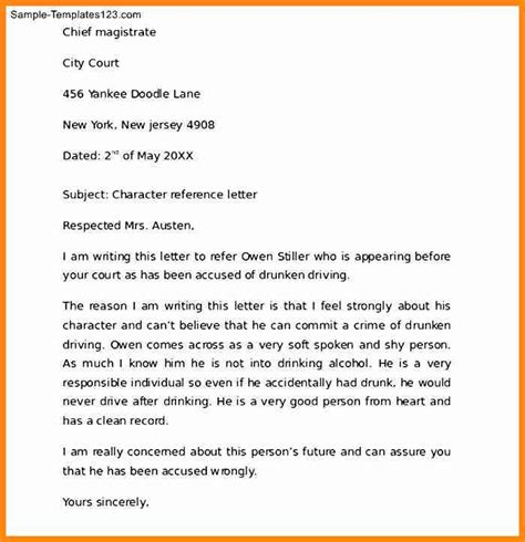 Character Reference Letter For Custody 8 Character Reference Letter For Child Custody Driver Resume