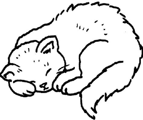sleepy cat coloring page free coloring pages of sleeping kitten