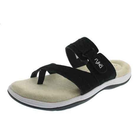 ryka sandals ryka womens cozi toe loop suede flats athletic