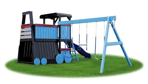 train swing set eagle playground equipment locomotive
