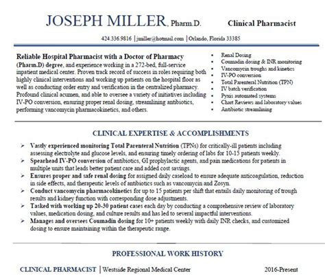 Clinical Pharmacist Resume by Clinical Pharmacist Resume Resume Ideas