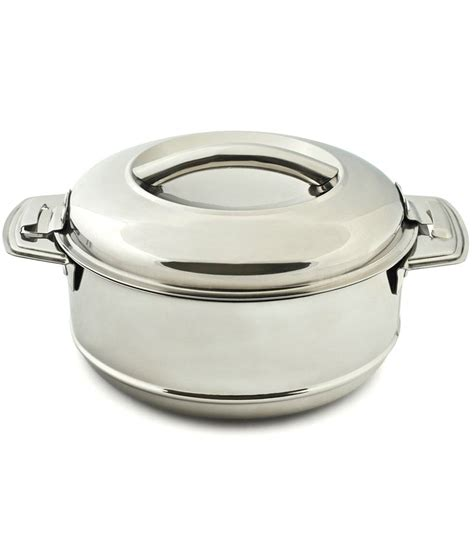 Bluefly Buys by Bluefly Silver Stainless Steel 5 Ltrs Pot Buy
