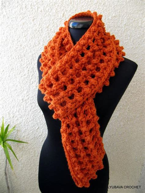 you to see crochet infinity orange scarf on craftsy