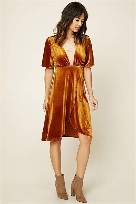 Forever21 Orange Dress forever 21 contemporary velour dress in orange lyst