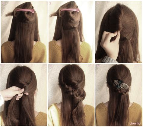 tutorial hair clip untuk rambut pendek foto cara mengikat rambut model kanubeea hair clip gaya