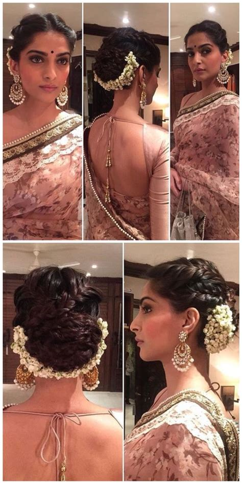 sonam kapoor hairstyles in saree taking inspiration from sonam kapoor s hairstyle threads