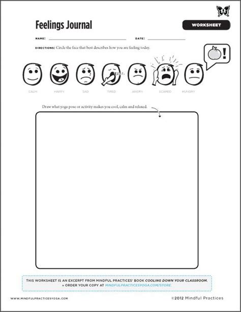 printable food and feelings journal feelings worksheets and journals on pinterest