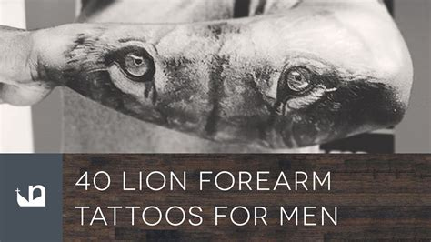 40 lion forearm tattoos for men youtube