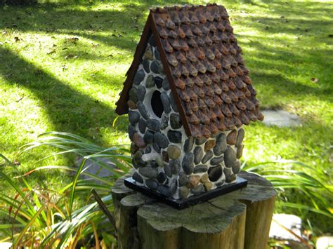 decorative outdoor bird houses unique hardscape design