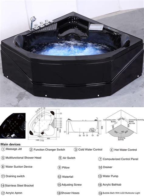 black bathtubs for sale hs b230 corner whirlpool bubble massage black bathtub for