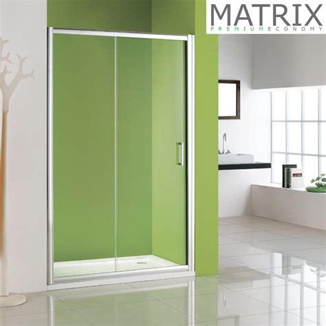 Matrix Shower Doors Matrix 1850 X 1100mm Premium Economy Single Sliding Shower Door