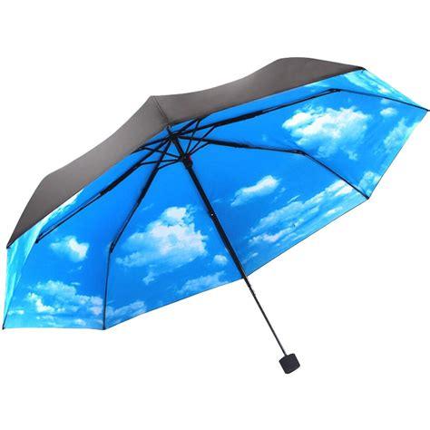 Uv Protection anti uv sun protection umbrella blue sky 3 folding parasols umbrella alex nld