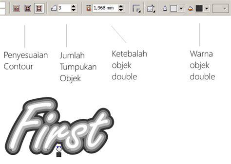 cara membuat outline tulisan cara membuat teks tulisan double di coreldraw multimedia