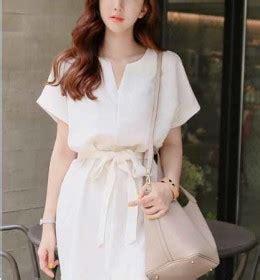 Dress Simple Hitam Putih kemeja korea wanita murah di eveshopashop shopashop
