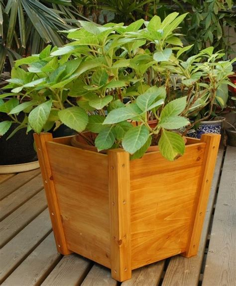 Wooden Garden Planter Boxes by Garden Planter Boxes Modern Outdoor Pots And Planters