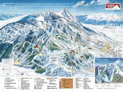 map of colorado ski resorts crested butte mountain resort trail map