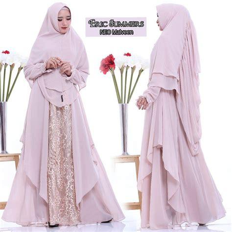 Khimar Tabur 2 Layer supplier baju muslim terbaru