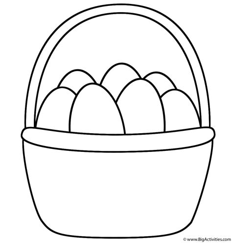 easter basket coloring page easter