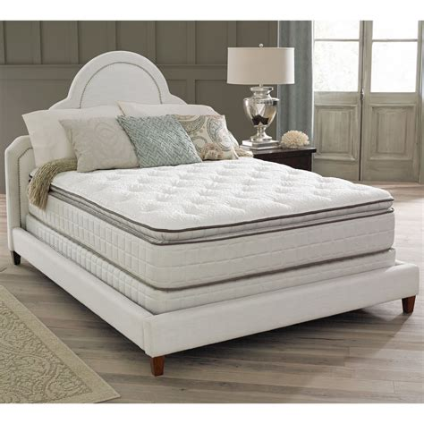pillow top king size bed spring air premium collection noelle pillow top king size