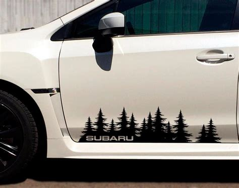 forester decal product subaru custom tree forest vinyl decal sticker