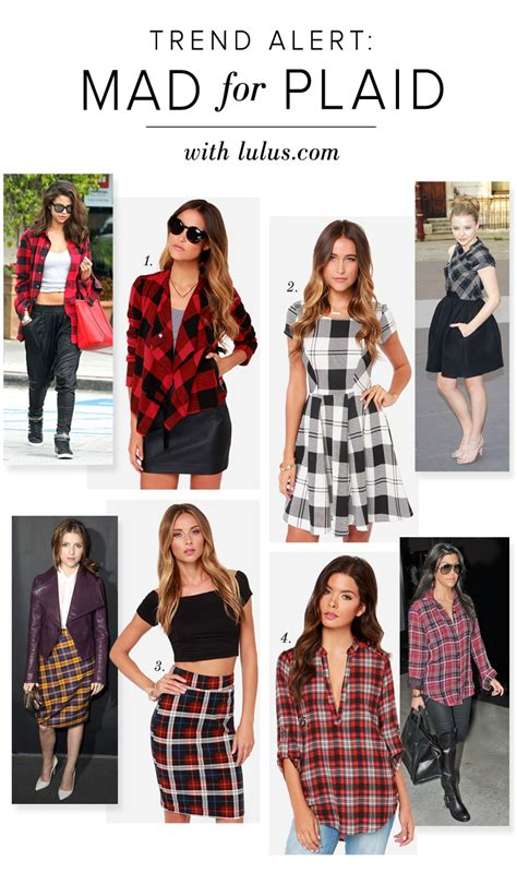 Trend Alert by Trend Alert Mad For Plaid Lulus Fashion