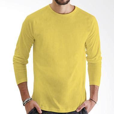 Atasan Anak Lengan Panjang Kuning jual kaosyes kaos polos t shirt o neck lengan panjang