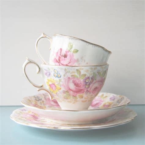 vintage tea cup photo kitchen art shabby chic decor pastel