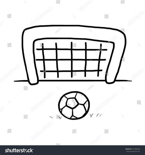 Soccer Goal White football soccer goal vector illustration stock