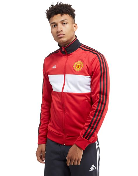 Vest Hoodie Manchester United Fc 3 lyst adidas manchester united 2017 3 stripe track top in for