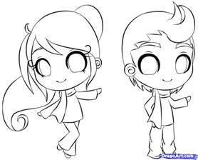 how to draw a chibi person step by step chibis draw