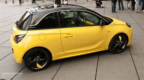 opel adam yellow opel presents adam in paris ahead of motor show live